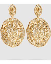 Aurelie Bidermann - Dentelle Gold-tone Earrings - Lyst