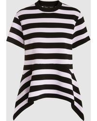 Proenza Schouler - Striped Knitted Crepe Peplum Top - Lyst