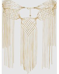 Rosantica - Aquilone Fringed Gold-tone Necklace - Lyst