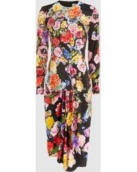 Preen By Thornton Bregazzi - Christine Embellished Printed Silk Dress - Lyst
