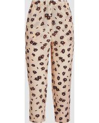 Marni - Printed Silk-crepe Trousers - Lyst