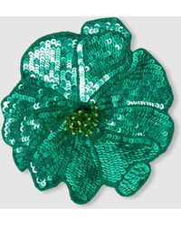 Racil - Flower Sequinned Brooch - Lyst