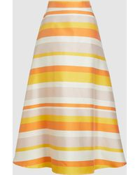 ‎Taller Marmo - Striped A-line Skirt - Lyst