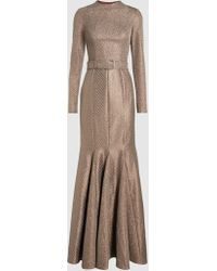 Madiyah Al Sharqi - Belted Fishtail Gown - Lyst
