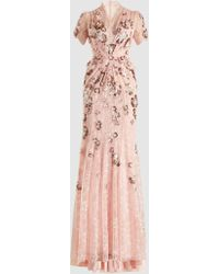 Jenny Packham - Ela Sequinned Lace Gown - Lyst