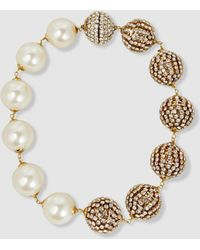Rosantica - Strobo Faux Pearl And Crystal Necklace - Lyst
