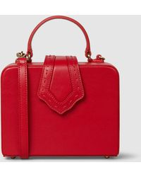 Mehry Mu - Fey Mini Red Leather Box Bag - Lyst