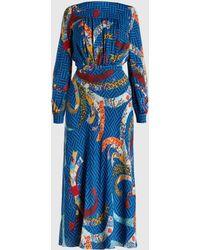 Stella Jean - Printed Crepe Midi Dress - Lyst