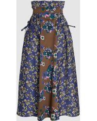 Teija - Hame Floral-print Cotton-blend Midi Skirt - Lyst