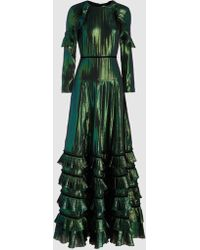 Huishan Zhang - Metallic Ruffled Dress - Lyst