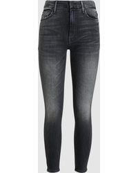 Mother - High Waist Looker Cropped Jeans - Lyst