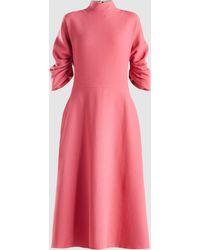 Emilia Wickstead Marvel Ruched Wool-crepe Midi Dress
