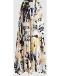 Rachel Comey - Mina Emma Cotton-silk Blend Midi Skirt - Lyst