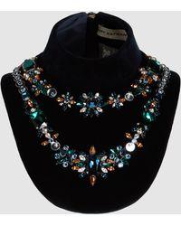 Mary Katrantzou - Crystal Embellished Velvet Bib - Lyst