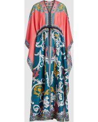 Mary Katrantzou - Printed Cotton-silk Kaftan - Lyst