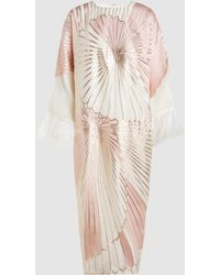 Taller Marmo - Ostrich Feather Metallic Kaftan - Lyst