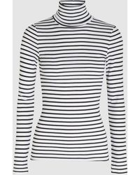 Splendid - Striped Stretch-jersey Turtleneck Top - Lyst