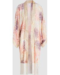 Anna Sui - Love In The Mist Burnout Velvet Kimono - Lyst