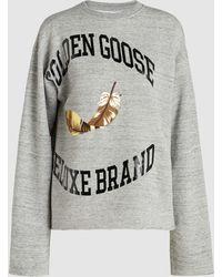 Golden Goose Deluxe Brand - Cereda Grey Melange Sweatshirt - Lyst