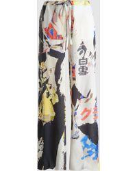 Marques'Almeida - Poster Print Silk Pyjama Trouser - Lyst
