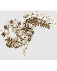 Alberta Ferretti - Embellished Brooch - Lyst