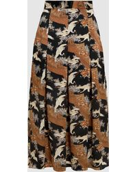 Printed Silk-Twill Midi Skirt Co Sale Reliable Cheap Sale Exclusive Visa Payment Cheap Online HtAbbJ1rEv