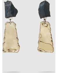 Proenza Schouler - Stone Hammered Clip-on Dangle Earrings - Lyst