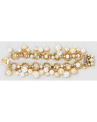 Erickson Beamon - Gold-plated Pearl Bracelet - Lyst