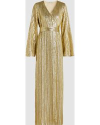 Madiyah Al Sharqi - Metallic Sequin-embroidered Robe Dress - Lyst
