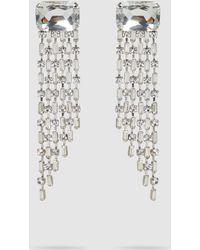 Alberta Ferretti - Crystal Rhinestone Drop Clip-on Earrings - Lyst