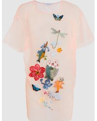 Vivetta - Altarf Embroidered Short Sleeve Top - Lyst
