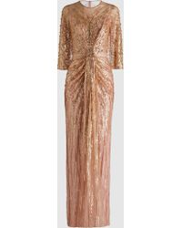 Jenny Packham - Mira Embellished Sequinned Gown - Lyst