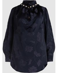 Mother Of Pearl - Dorothea Embellished Jacquard Top - Lyst