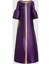 Reem Acra - Silk-blend Evening Gown - Lyst