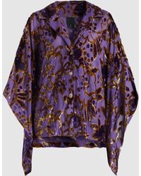Anna Sui - Magic Moments Metallic Devoré Kimono Blouse - Lyst