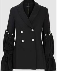 Ellery - Faux Pearl-embellished Woven Blazer - Lyst