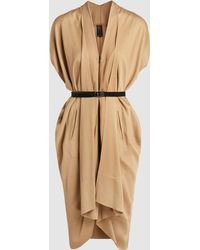 Zero + Maria Cornejo - Sleeveless Zip-front Belted Dress - Lyst