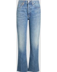 RE/DONE - Originals High Rise Stove Pipe Denim Jeans - Lyst