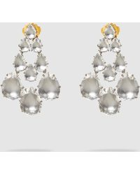 Larkspur & Hawk - Caterina White Quartz Chandelier Earrings - Lyst
