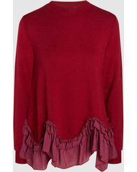 CLU | Silk Ruffled Pullover | Lyst