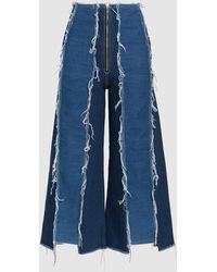 Rejina Pyo - Bella Frayed Cropped Jeans - Lyst