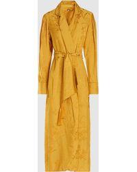 Johanna Ortiz - Satin-jacquard Kimono Robe - Lyst