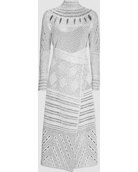 Proenza Schouler - Jacquard-knit Midi Dress - Lyst