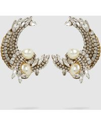 Erickson Beamon - Delicate Balance Embellished Gold-plated Earrings - Lyst