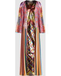Mary Katrantzou - Lapwing Printed Silk-blend Maxi Dress - Lyst