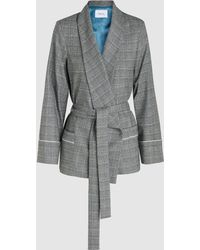 Racil - Derby Tie-waist Prince Of Wales Check Jacket - Lyst