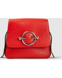 JW Anderson - Leather Disc Shoulder Bag - Lyst