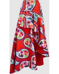 Delpozo - Embellished Paisley Print Skirt - Lyst
