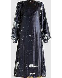 Stella Jean - Two-tone Sequinned Midi Dress - Lyst