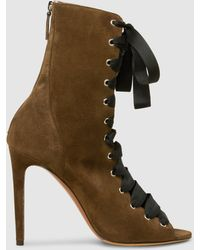 Tabitha Simmons - Klara Suede Lace-up Ankle Boots - Lyst